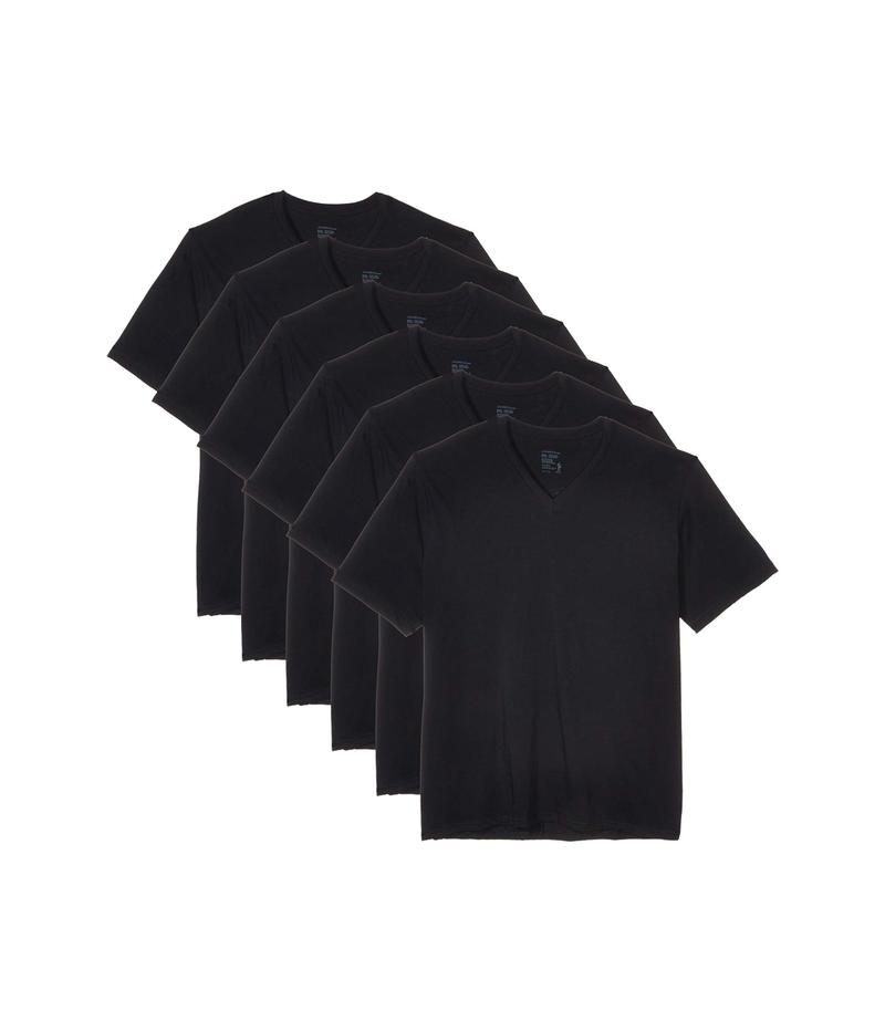 ジョッキー メンズ シャツ トップス V-Neck T-Shirt 6-Pack Black