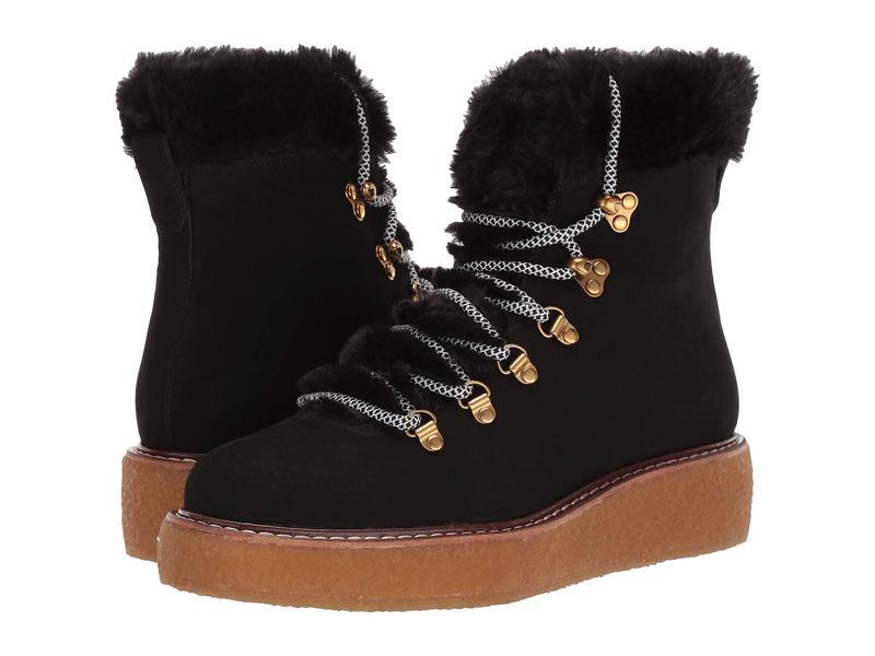 ジェイクルー レディース ブーツ・レインブーツ シューズ Nubuck Crepe Sole Wedge Winter Boot Black