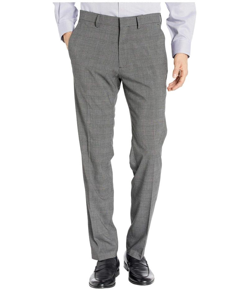 ケネスコール メンズ カジュアルパンツ ボトムス Stretch Heather Glen Plaid Slim Fit Flat Front Dress Pants Charcoal Heathe