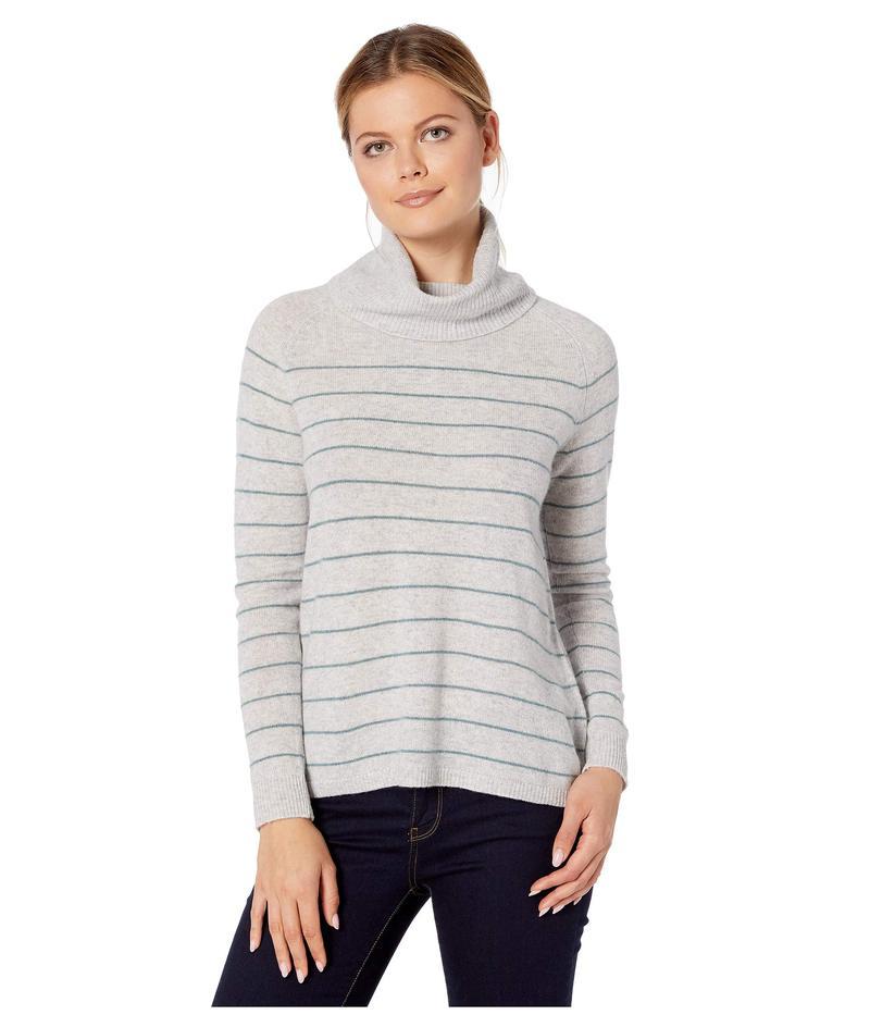 リラピー レディース ニット・セーター アウター 100% Cashmere Easy Turtleneck Sweater Platinum Stripe