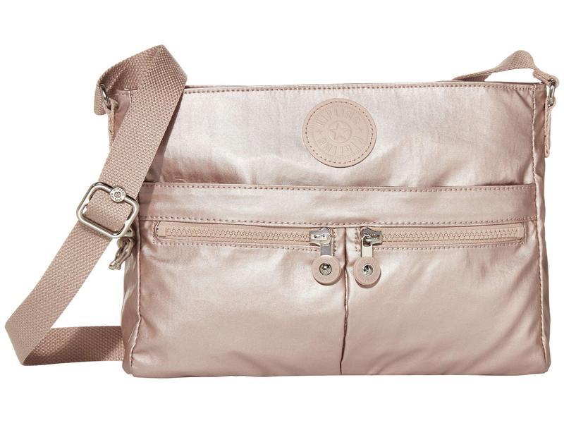 キプリング レディース ハンドバッグ バッグ New Angie Crossbody Bag Metallic Rose
