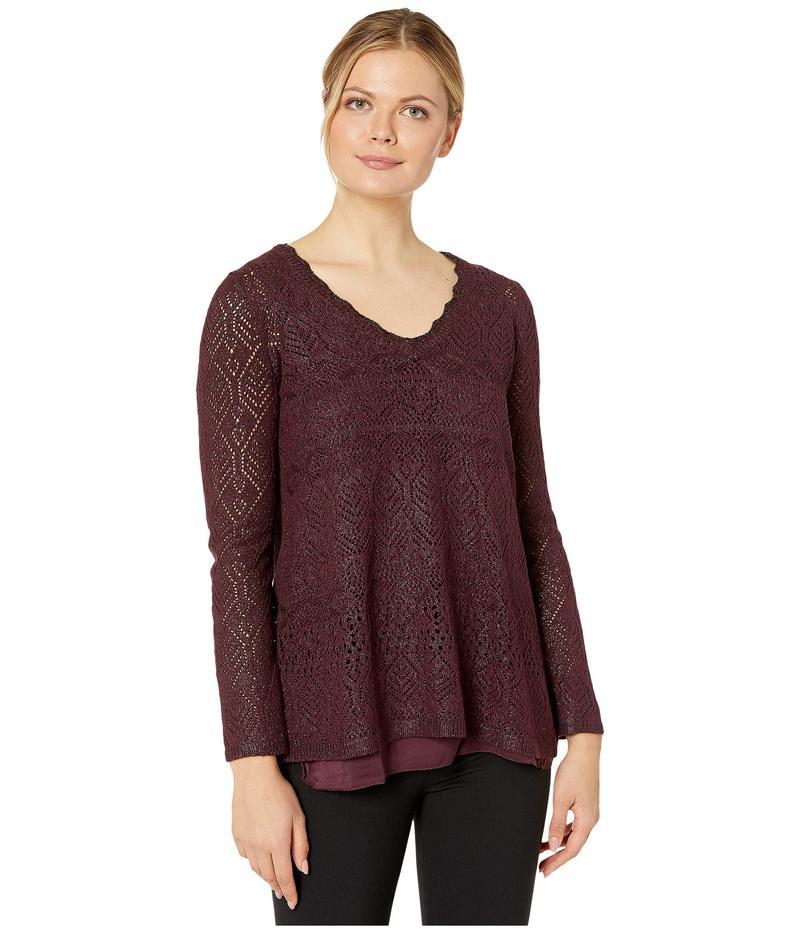 ニックプラスゾーイ レディース ニット・セーター アウター Shine On Sweater Winterberry