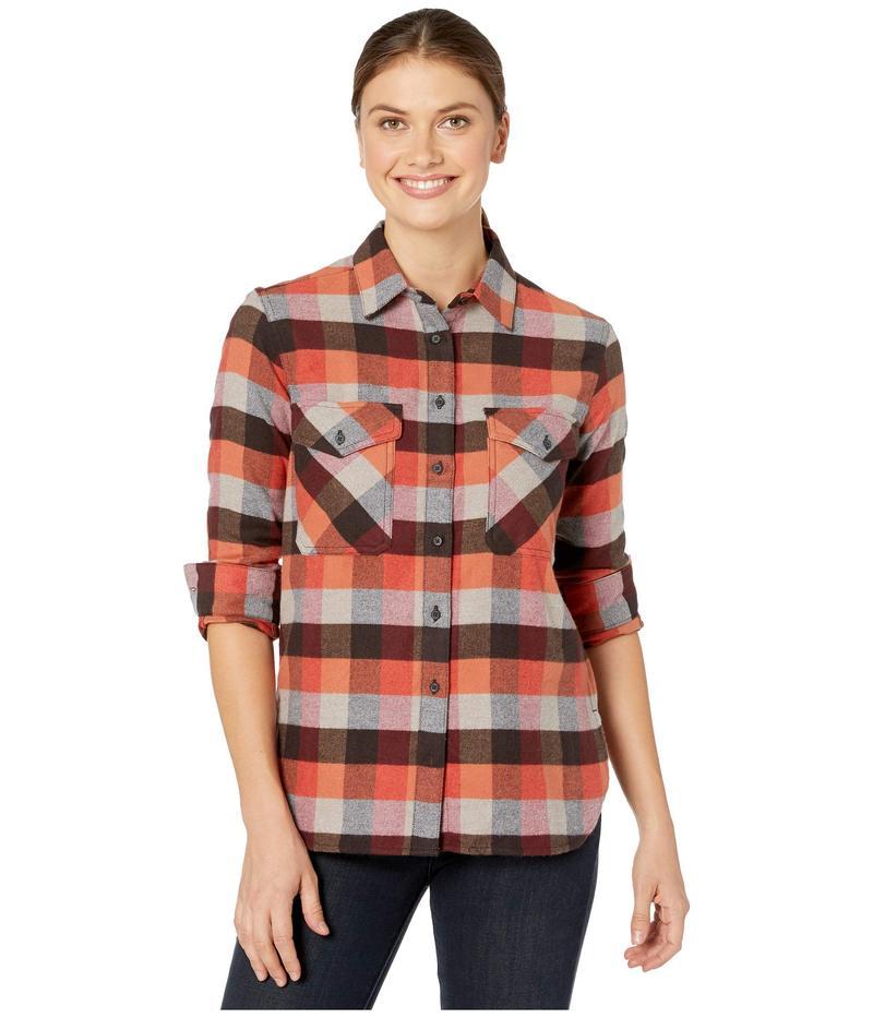 ペンドルトン レディース シャツ トップス Elbow Patch Flannel Shirt Red Rock/Grey M