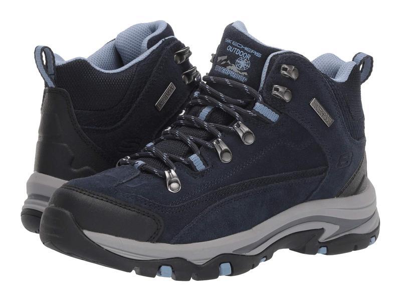 スケッチャーズ レディース ブーツ・レインブーツ シューズ Trego - Alpine Trail Navy/Light Blue