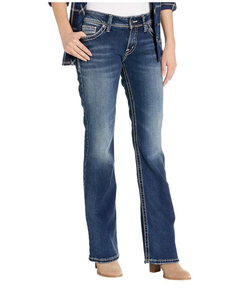 シルバー ジーンズ レディース デニムパンツ ボトムス Suki High-Rise Curvy Fit Bootcut Jeans L9516SJB376 Indigo