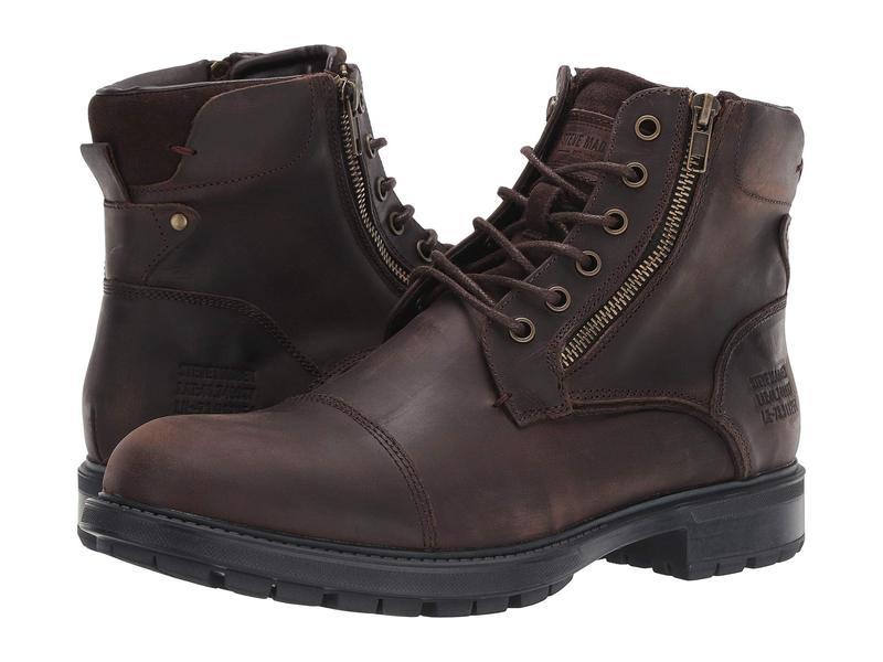 スティーブ マデン メンズ ブーツ・レインブーツ シューズ Self Made Ryker Brown Leather