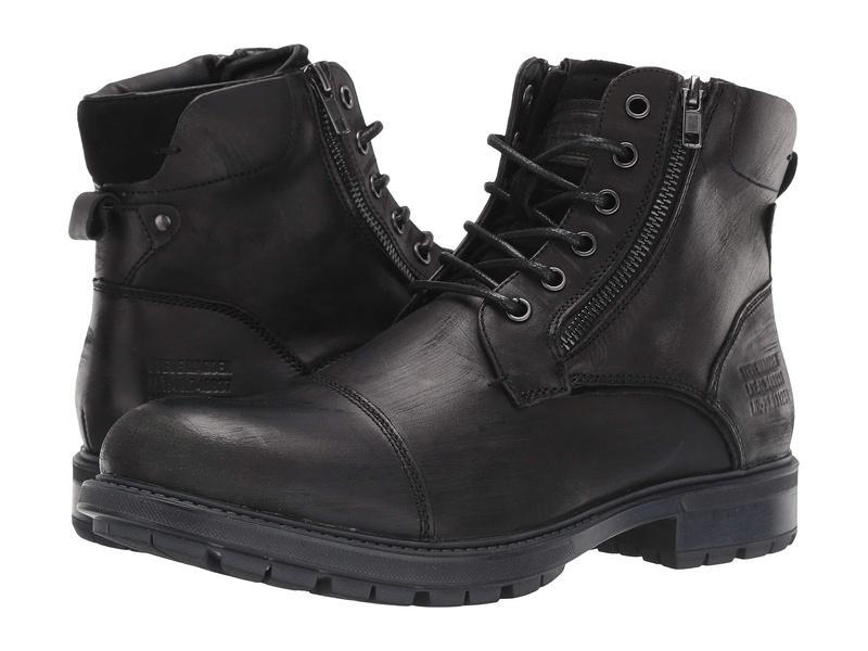 スティーブ マデン メンズ ブーツ・レインブーツ シューズ Self Made Ryker Black Leather