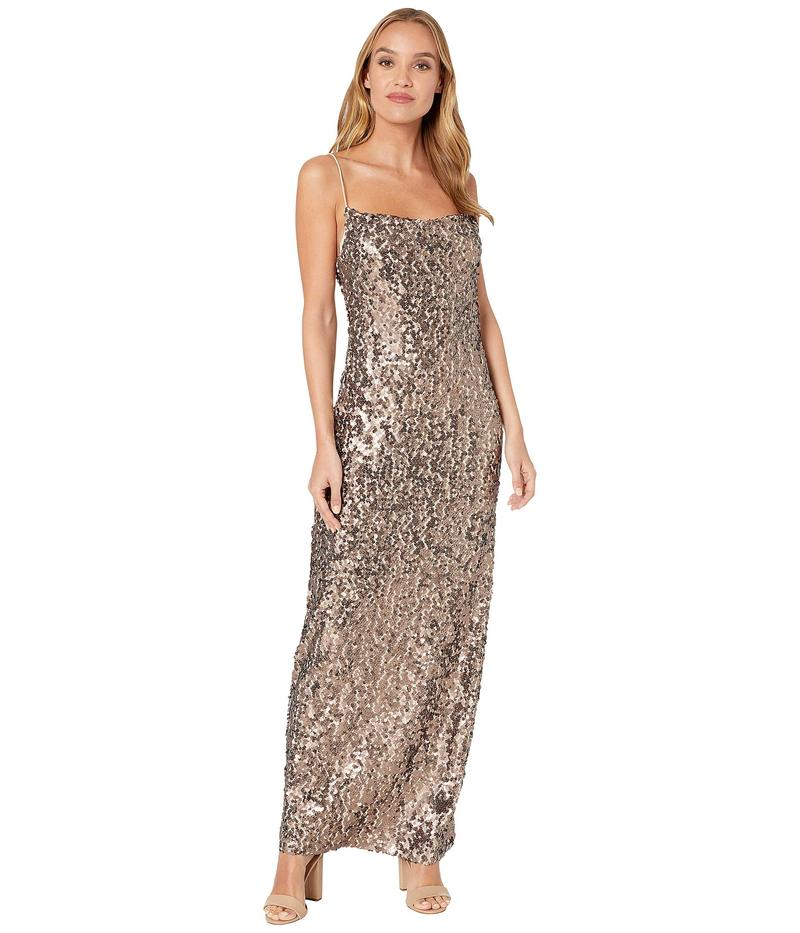 ワイフ レディース ワンピース トップス Amy Cowl Neck Dress Bronze Sequin