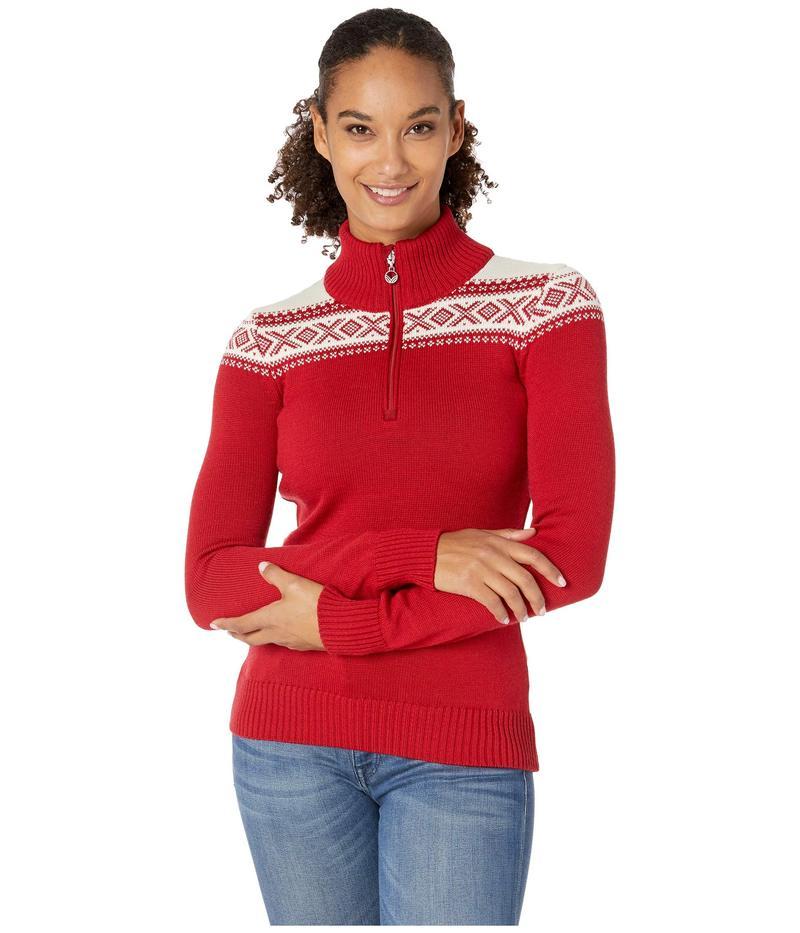 ダールオブノルウェイ レディース ニット・セーター アウター Cortina Merino Feminine Sweater Raspberry/White
