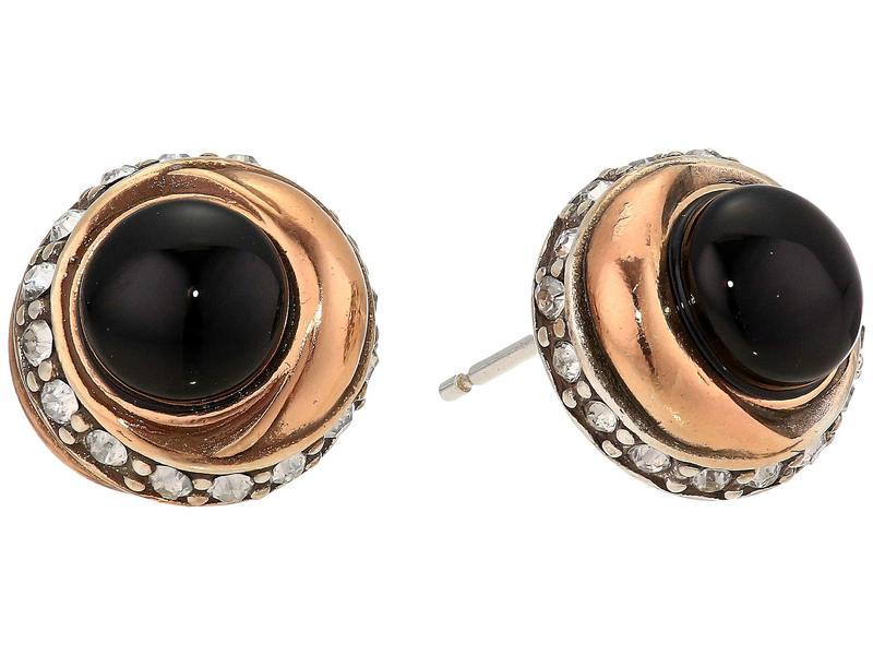 ブライトン レディース ピアス・イヤリング アクセサリー Neptune's Rings Button Earrings Black