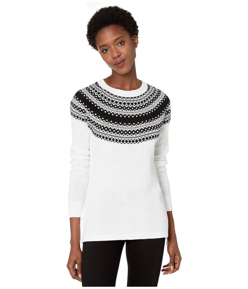 カルバンクライン レディース ニット・セーター アウター Fair Isle Crew Neck Sweater Winter White/Bl