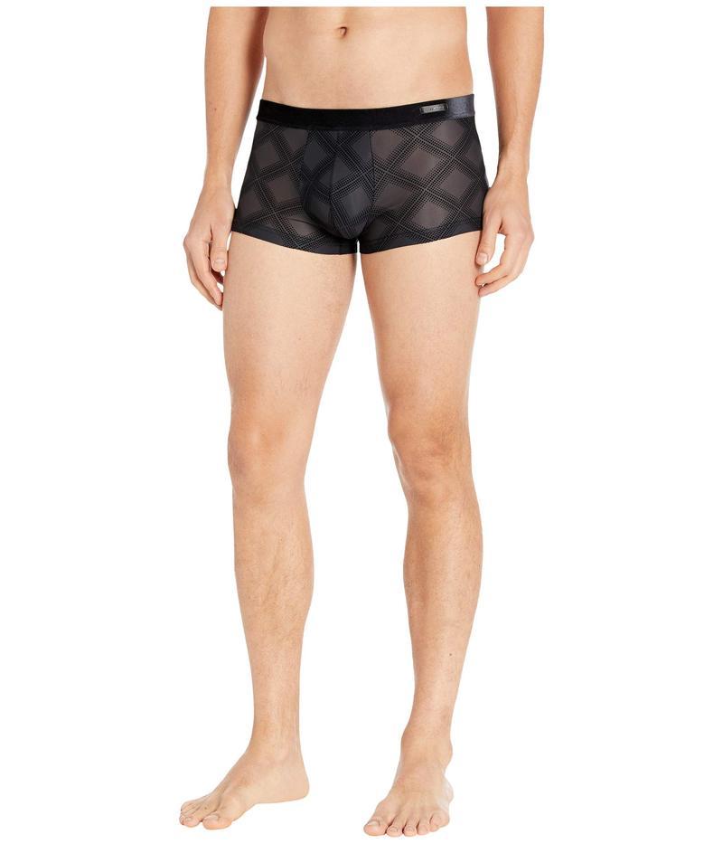 ホム メンズ ボクサーパンツ アンダーウェア Delicate Sheer Comfort Trunks Black