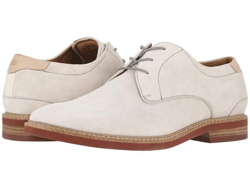 フローシャイム メンズ オックスフォード シューズ Highland Plain Toe Oxford White Suede/Bri