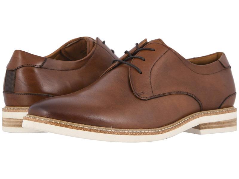 フローシャイム メンズ オックスフォード シューズ Highland Plain Toe Oxford Cognac Smooth/W