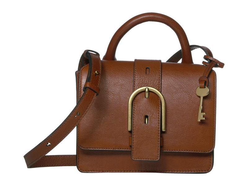 フォッシル レディース ハンドバッグ バッグ Wiley Tote Handbag Brown