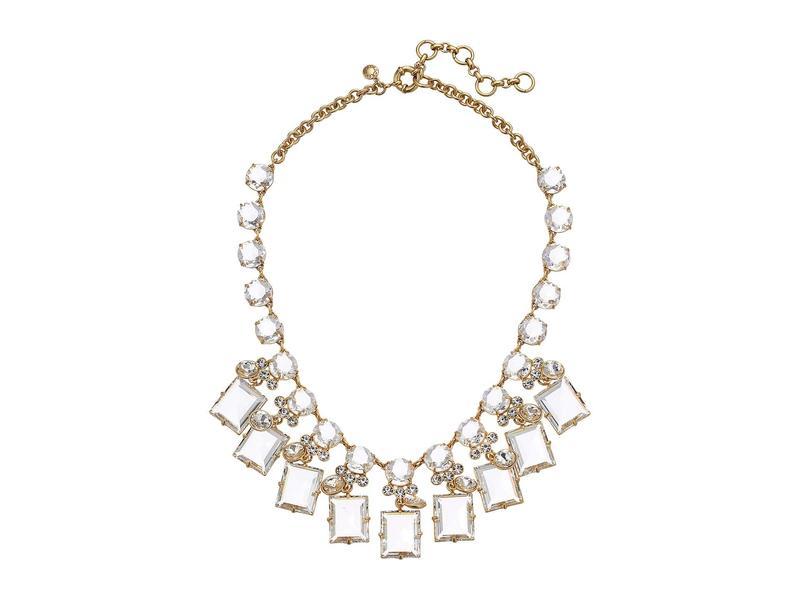ジェイクルー レディース ネックレス・チョーカー・ペンダントトップ アクセサリー York Square Necklace Crystal