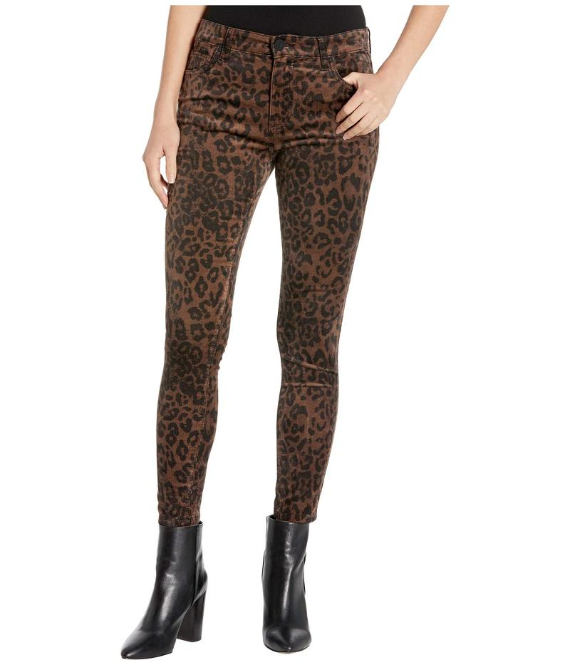 カットフロムザクロス レディース デニムパンツ ボトムス Connie High-Rise Ankle Skinny Regular Hem in Brown Brown
