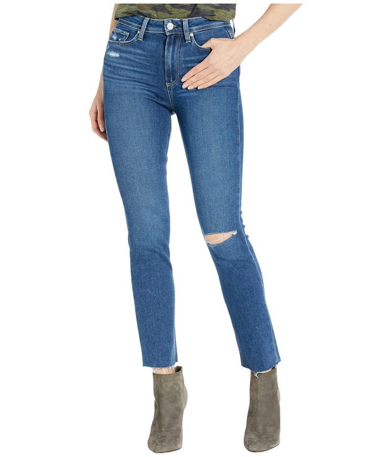 ペイジ レディース デニムパンツ ボトムス Hoxton Slim Jeans w/ Raw Hem in Slopes Destructed Slopes Destruct