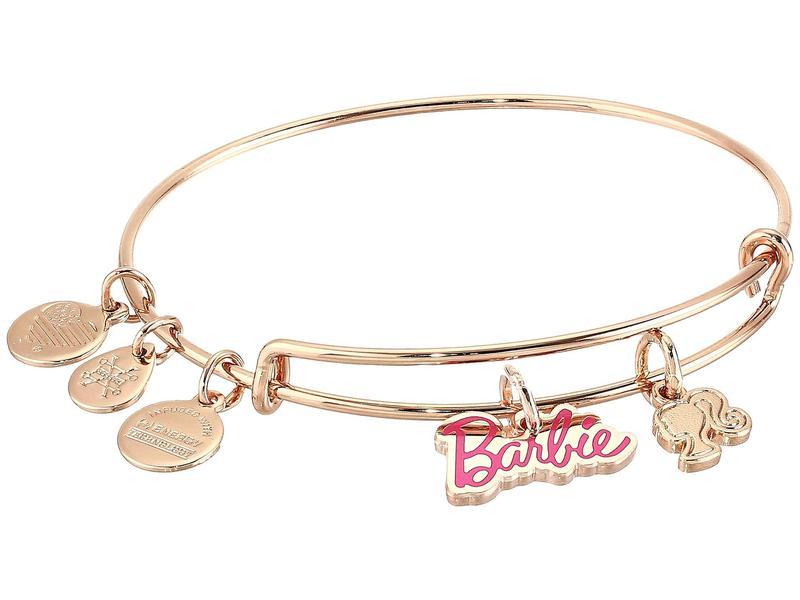 アレックスアンドアニ レディース ブレスレット・バングル・アンクレット アクセサリー Barbie Duo Charm Bangle Bracelet Shiny Rose Gold