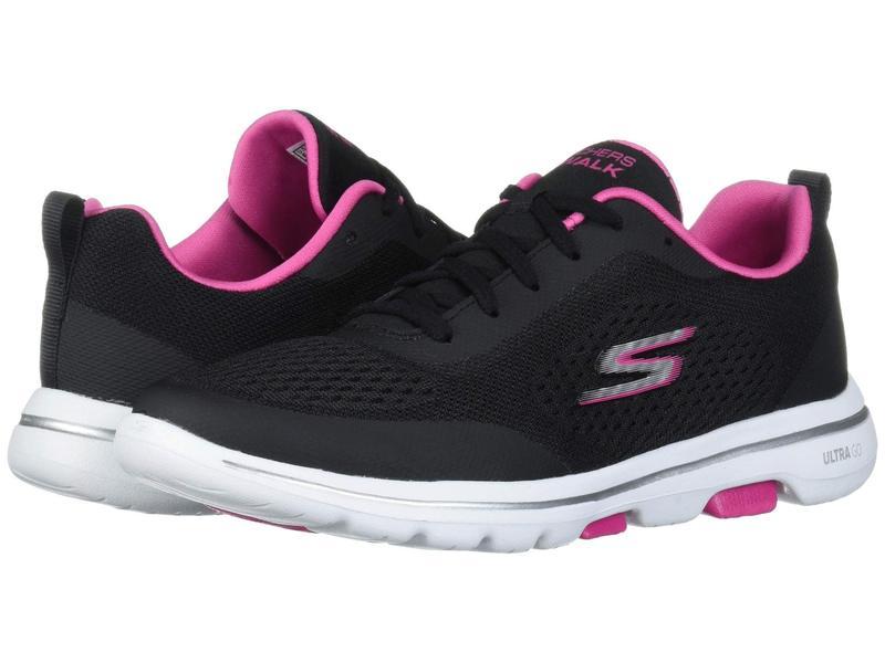 スケッチャーズ レディース スニーカー シューズ Go Walk 5 - 15953 Black/Pink