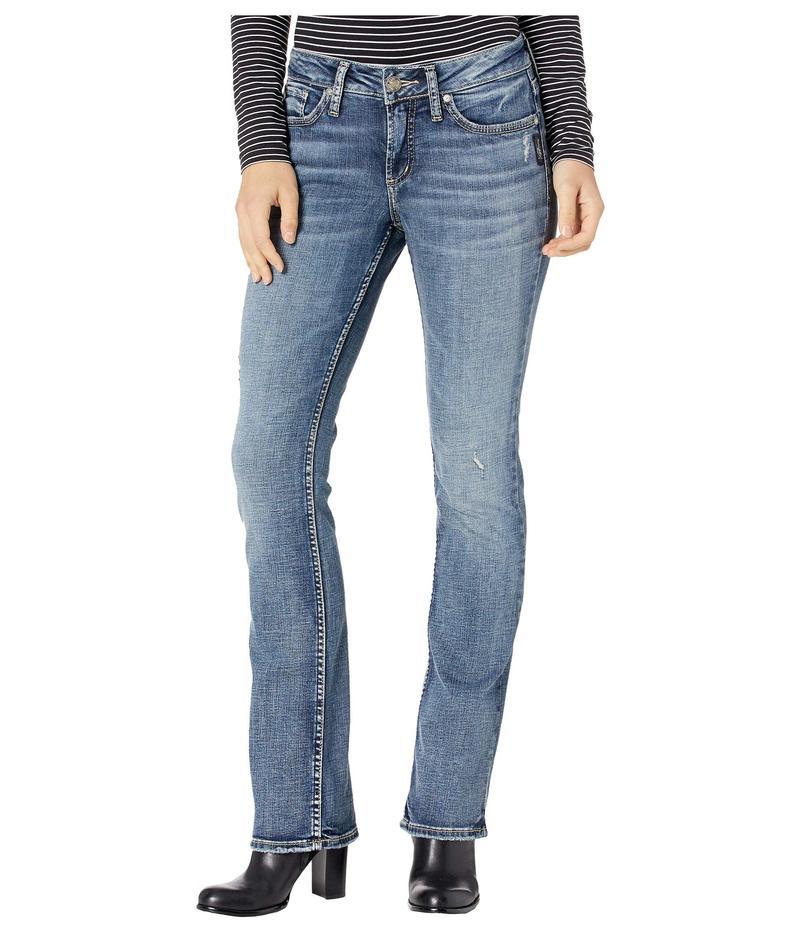 シルバー ジーンズ レディース デニムパンツ ボトムス Elyse Mid-Rise Curvy Fit Slim Boot Jeans L03601SKD205 Indigo