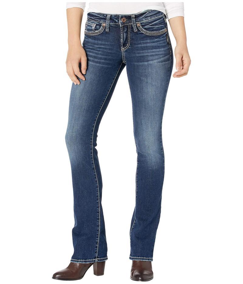 シルバー ジーンズ レディース デニムパンツ ボトムス Suki Mid-Rise Curvy Fit Slim Bootcut Jeans L93616SSX394 Indigo