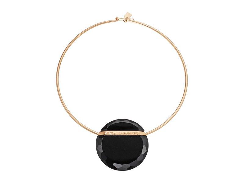 ロバートリーモリス レディース ネックレス・チョーカー・ペンダントトップ アクセサリー Black Round Wire Necklace Black
