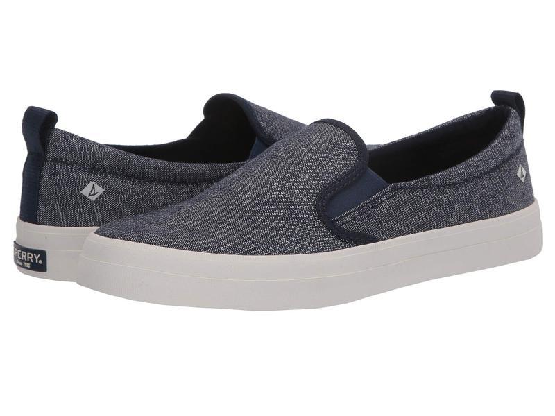 スペリー レディース スニーカー シューズ Crest Twin Gore Sparkle Linen Sneaker Navy