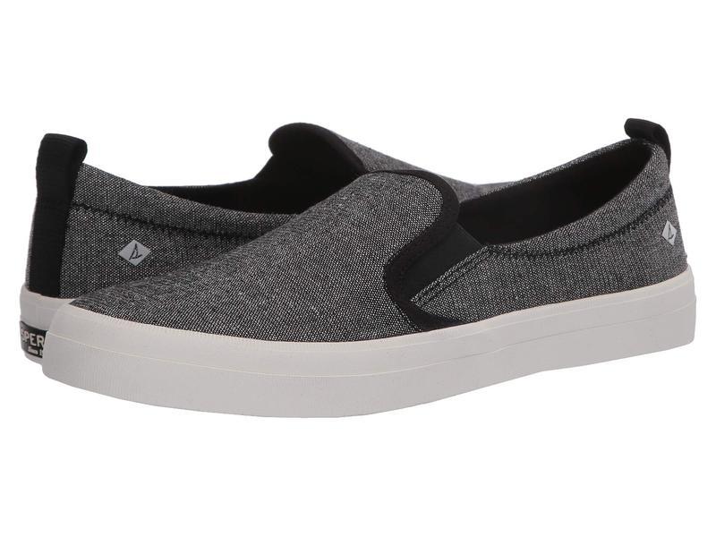 スペリー レディース スニーカー シューズ Crest Twin Gore Sparkle Linen Sneaker Black