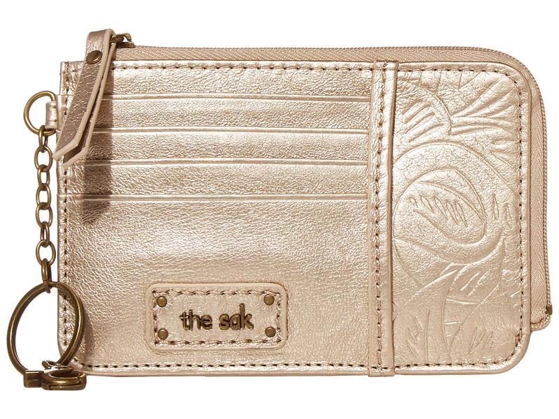 ザサック レディース 財布 アクセサリー Iris Card Wallet Nude Metallic L
