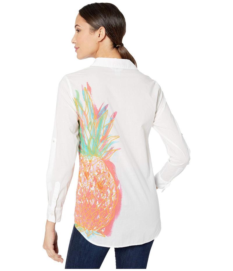 トッミーバハマ レディース シャツ トップス Punjab Pineapple Shirt White