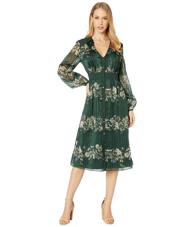 テッドベーカー レディース ワンピース トップス Delyla Meadowsweet Long Sleeve Midi Dress Dark Green