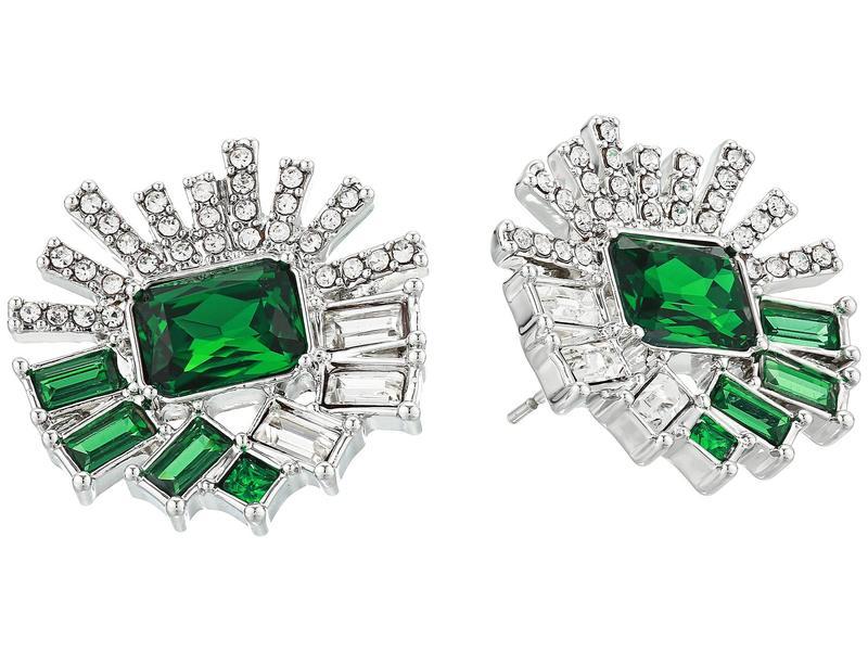 ヴィンスカムート レディース ピアス・イヤリング アクセサリー Large Stud Earrings Rhodium/Crystal