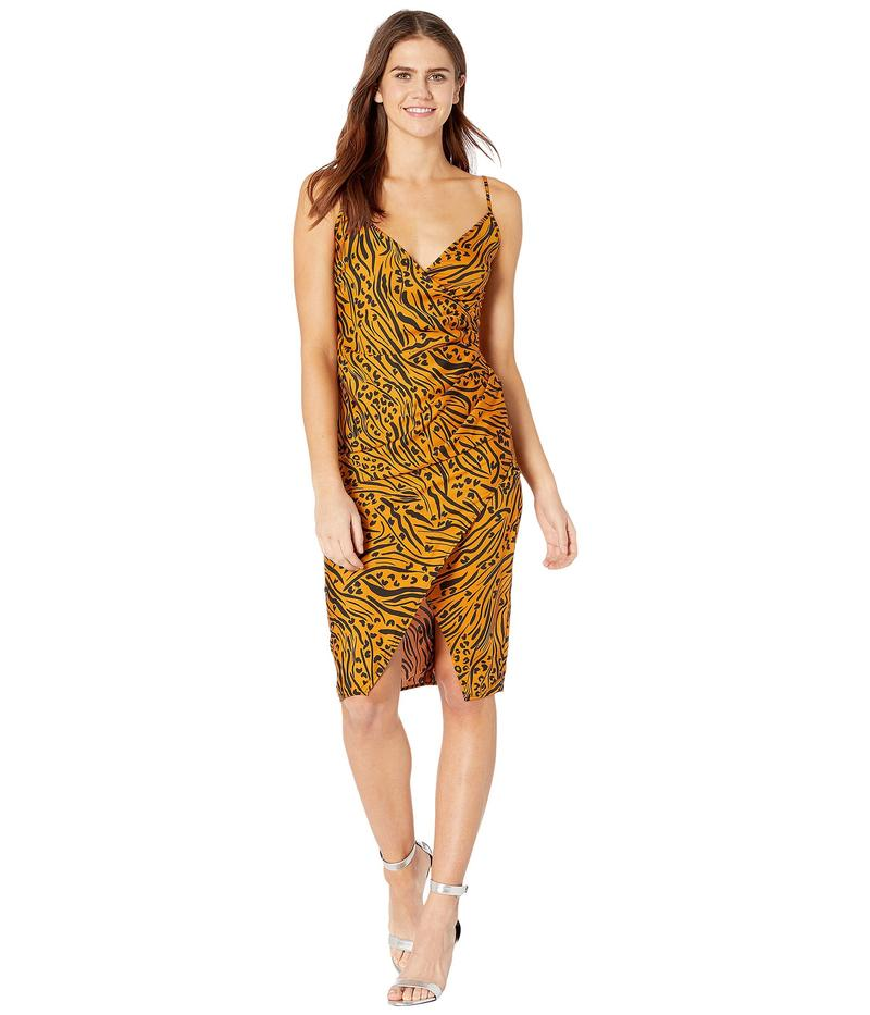 BCBジェネレーション レディース ワンピース トップス Printed Side Pleated Cami Dress TOP6266889 Bronze
