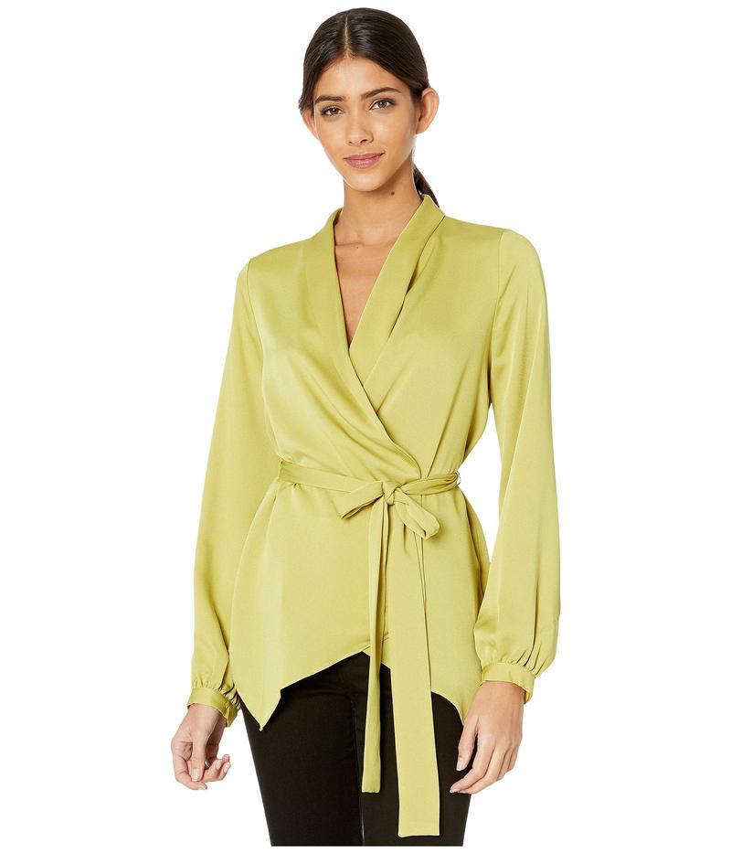 ビーシービージーマックスアズリア レディース シャツ トップス Wrap Long Sleeve Top Golden Olive