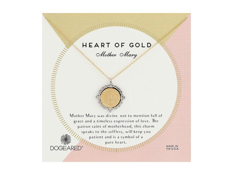 ドジャード レディース ネックレス・チョーカー・ペンダントトップ アクセサリー Heart of Gold Two-Tone Mother Mary Necklace Gold Dipped