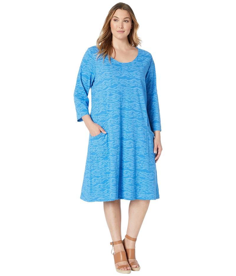 フレッシュプロデュース レディース ワンピース トップス Plus Size Seashore Dalia Dress Atlantic Blue