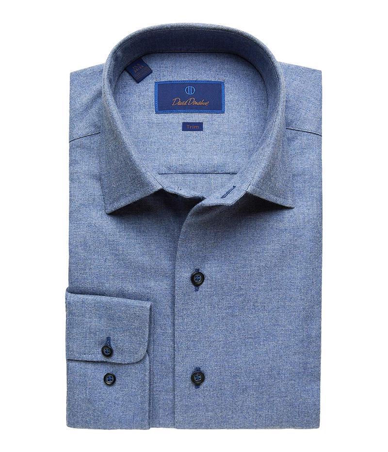 【中古】 デイビッドドナヒュー メンズ シャツ Fusion トップス Trim Trim Shirt Fit Long Sleeve Melange Fusion Dress Shirt Denim 2:ReVida 店, KYOWA(共和)Gift&Shopping:c724cc41 --- nagari.or.id