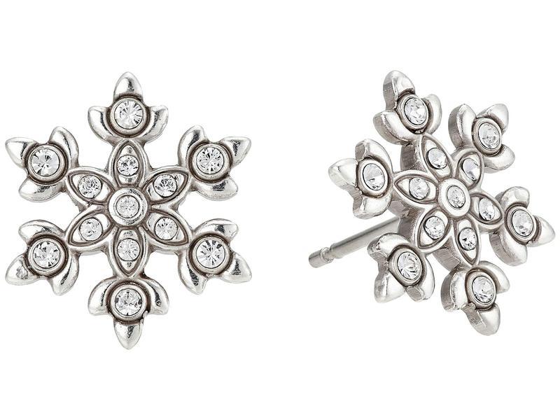 ブライトン レディース ピアス・イヤリング アクセサリー Snowflake Dazzle Mini Post Earrings Crystal