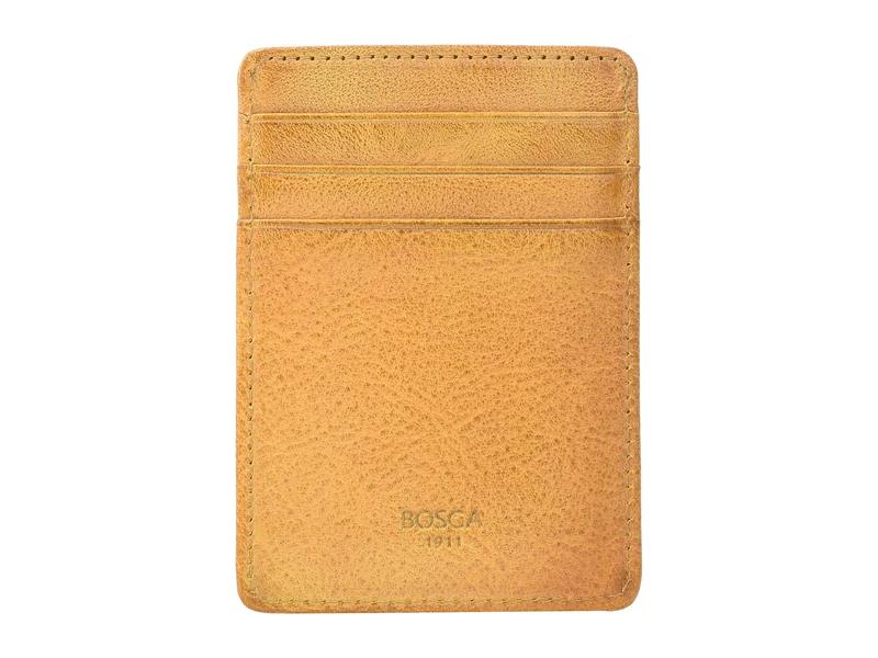 ボスカ メンズ 財布 アクセサリー RFID Waxy Burnishing Front Pocket Wallet Tan