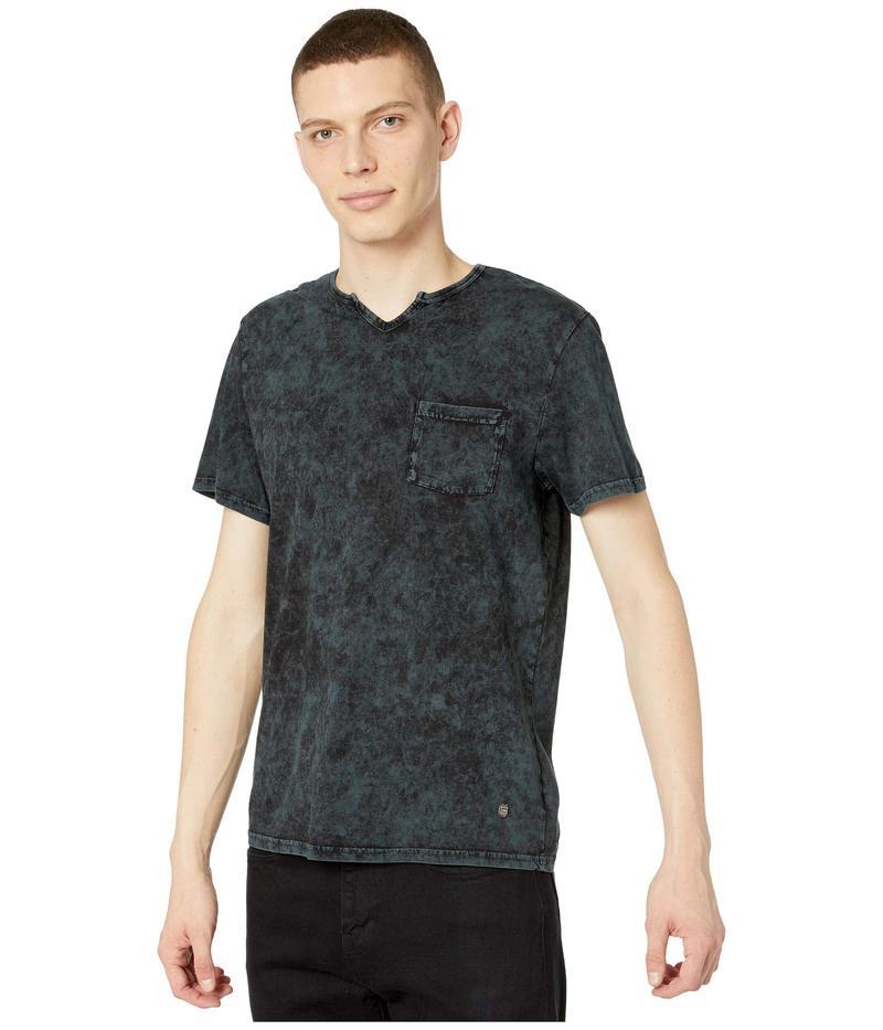 バッファロー・デイビッド・ビトン メンズ シャツ トップス Kavid Short Sleeve Split-Neck Knit Charcoal