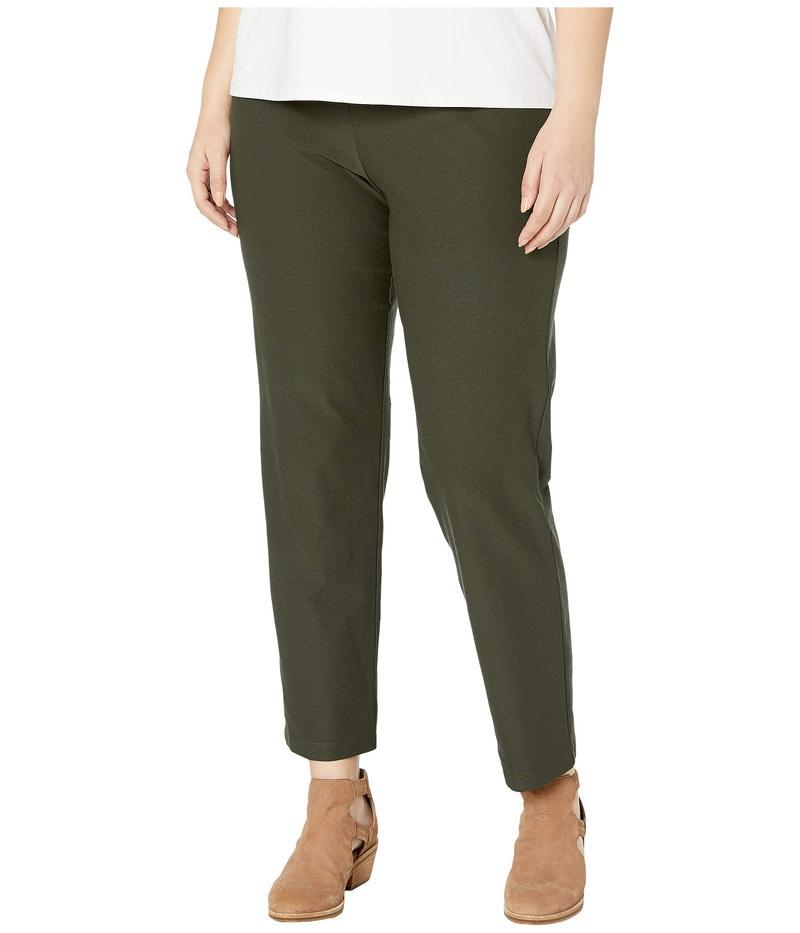 エイリーンフィッシャー レディース カジュアルパンツ ボトムス Plus Size Washable Stretch Crepe Slim Ankle Pants Woodland