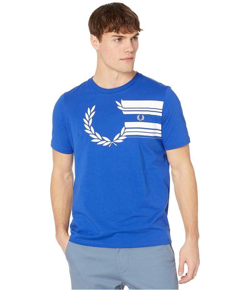 フレッドペリー メンズ シャツ トップス Laurel Wreath Graphic T-Shirt Bright Regal