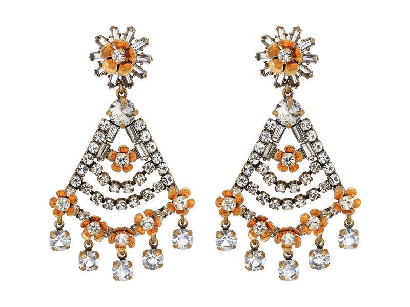 ジェイクルー レディース ピアス・イヤリング アクセサリー Magic Snowflower Earrings Crystal