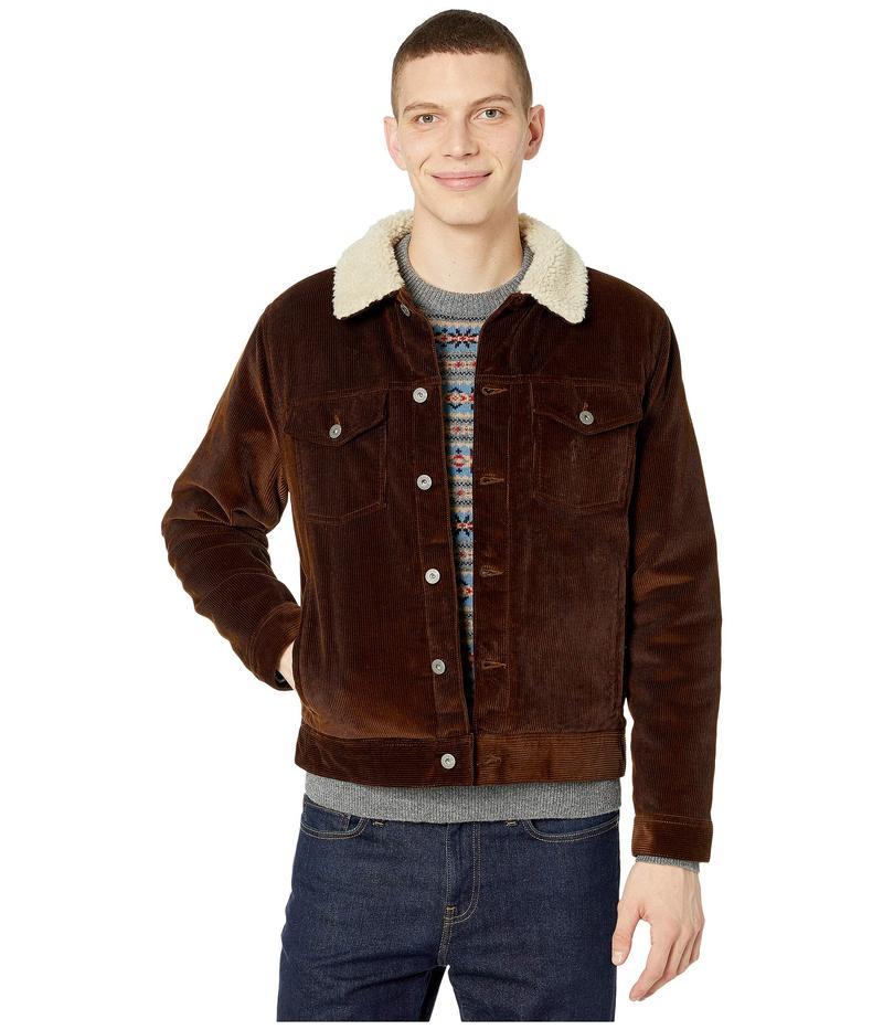 ジェイクルー メンズ コート アウター Corduroy Jacket with Sherpa Collar and Eco-Friendly PrimaLoft Rustic Brown