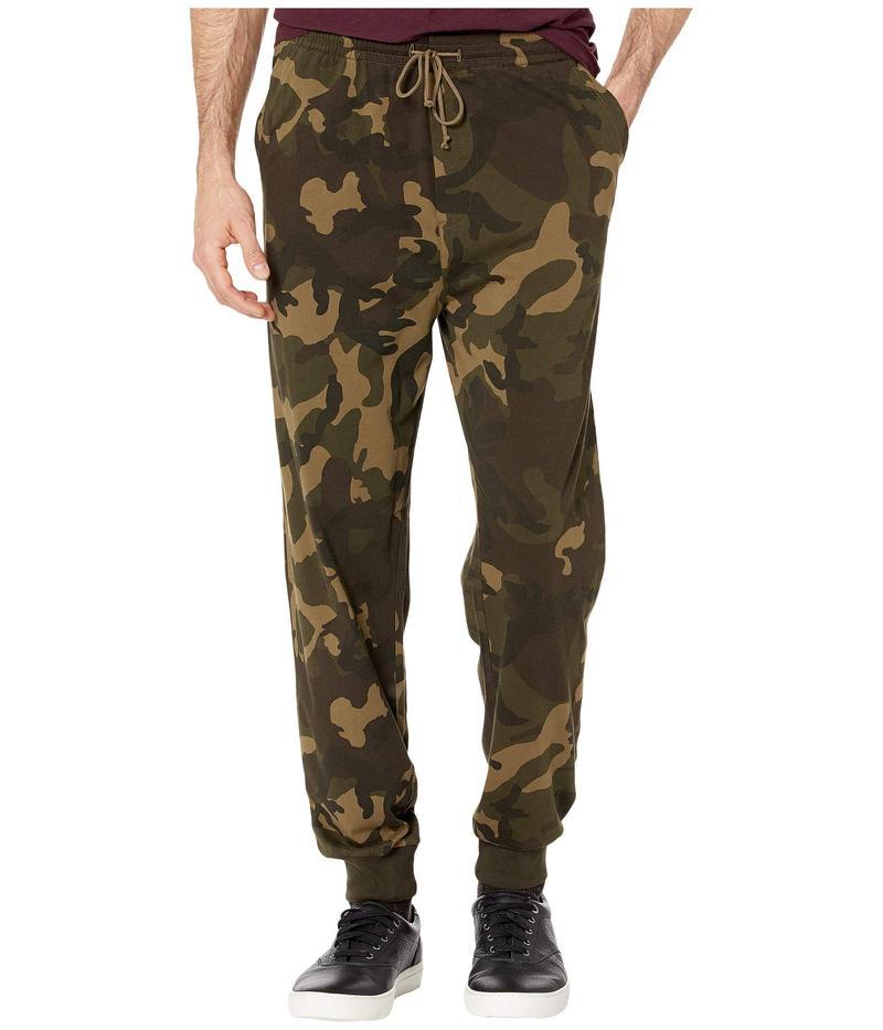 ジェイクルー メンズ カジュアルパンツ ボトムス Jama Jersey Printed Camo Pants Olive Camo