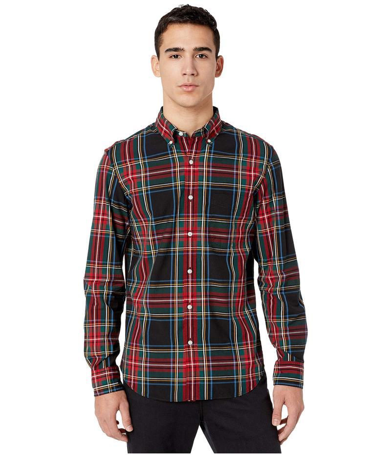ジェイクルー メンズ シャツ トップス Slim Stretch Secret Wash Shirt in Stewart Tartan Organic Cotton Black Stewart T