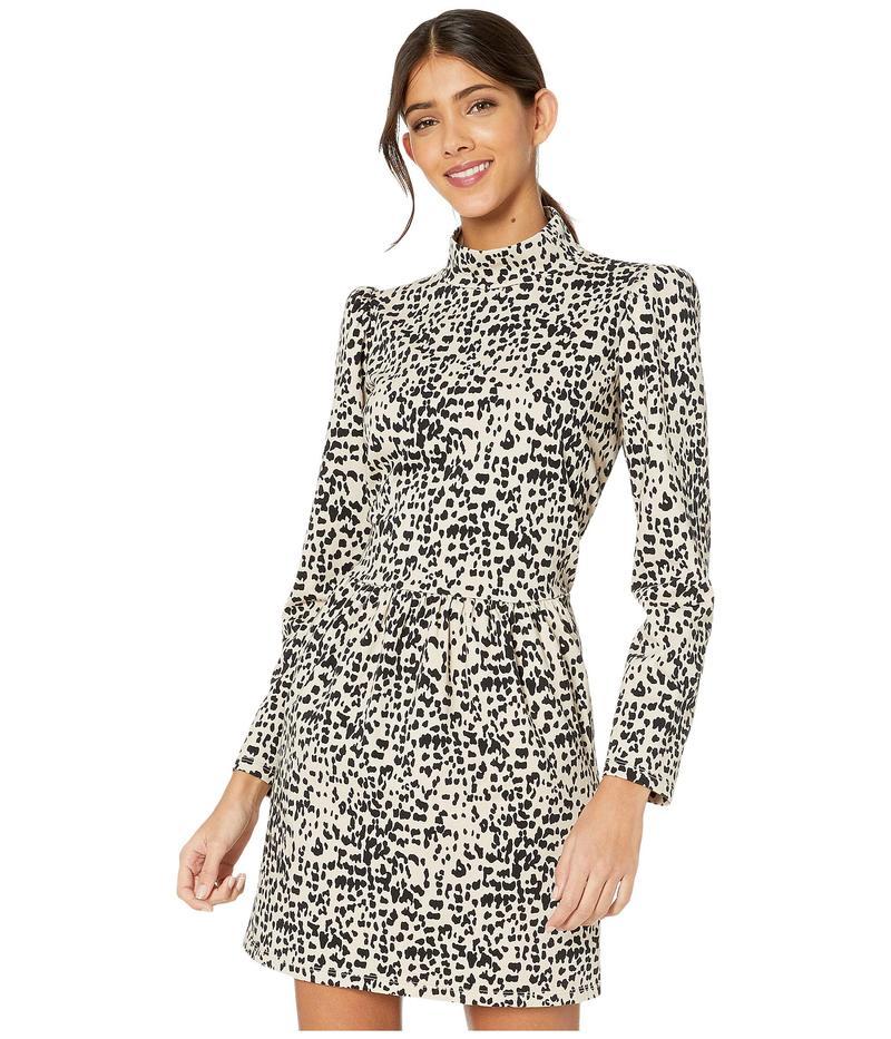 レベッカテイラー レディース ワンピース トップス Long Sleeve Dot Jersey Dress Creme Brulee Co