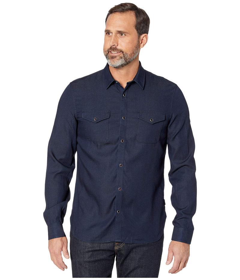 ジョンバルバトス メンズ シャツ トップス Marshall Regular Fit Long Sleeve Western Sport Shirt, Snap W544V4B Indigo