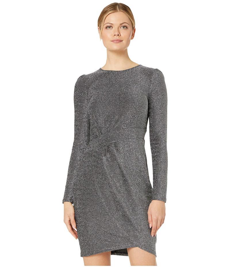 マイケルコース レディース ワンピース トップス Lurex Wrap Skirt Dress Black/Silver